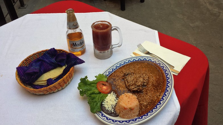 notice the Michelada!